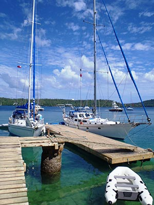 main wharf in neiafu harbour