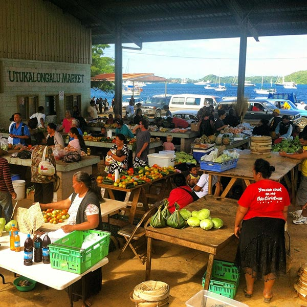 vegetable market in vavau tonga